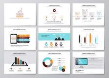 Geschäft infographics Elemente für Unternehmensbroschüren Stockfoto