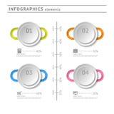 Geschäft infographics Elemente. Modernes Design Temp stock abbildung