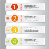 Geschäft infographics Fahne Stockbild