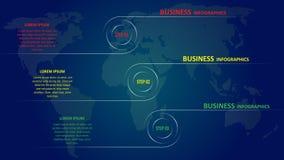 Geschäft infographics in Form von farbigen Pfeilen mit Text und Ikonen ENV 10 vektor abbildung