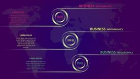 Geschäft infographics in Form von farbigen Pfeilen mit Text und Ikonen ENV 10 stock abbildung