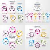 Geschäft Infographics-Gestaltungselement-Schablonenillustration Stockfoto