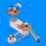Geschäft infographics isometrics Stockbild