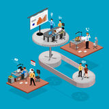 Geschäft infographics isometrics Stockfoto
