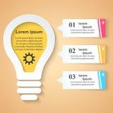 Geschäft Infographics-Origamiart Vektorillustration Stockbilder
