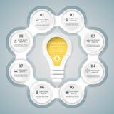 Geschäft Infographics-Origamiart Vektorillustration Stockfoto