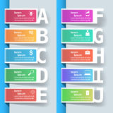 Geschäft Infographics-Origamiart Vektorillustration Lizenzfreie Stockfotos