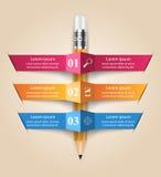 Geschäft Infographics-Origamiart Vektorillustration Lizenzfreies Stockfoto