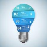 Geschäft Infographics-Origamiart Vektorillustration Lizenzfreie Stockbilder