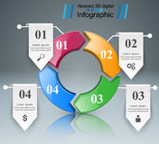 Geschäft Infographics-Origamiart Vektorillustration Stockbild