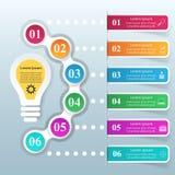 Geschäft Infographics-Origamiart Vektorillustration Birne IC Stockbild
