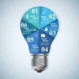 Geschäft Infographics-Origamiart Vektorillustration Birne IC Stockbilder
