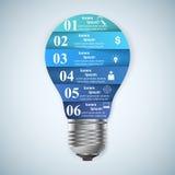 Geschäft Infographics-Origamiart Vektorillustration Birne IC Lizenzfreie Stockfotos