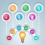 Geschäft Infographics-Origamiart Vektorillustration Birne IC Lizenzfreie Stockfotografie