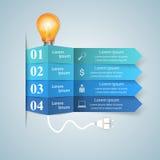 Geschäft Infographics-Origamiart Vektorillustration Birne IC Lizenzfreies Stockfoto