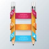 Geschäft Infographics-Origamiart Vektorillustration Bleistift Lizenzfreie Stockbilder