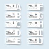 Geschäft Infographics-Origamiart Vektorillustration Liste von Lizenzfreies Stockfoto