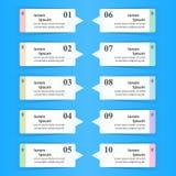 Geschäft Infographics-Origamiart Vektorillustration Liste von Stockbilder