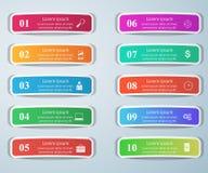 Geschäft Infographics-Origamiart Vektorillustration Liste von Stockfotografie