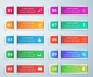 Geschäft Infographics-Origamiart Vektorillustration Liste von Stockfotos