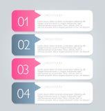 Geschäft infographics versieht Schablone für Darstellung, Bildung, Webdesign, Fahne, Broschüre, Flieger mit Laschen Lizenzfreie Stockfotos