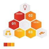 Geschäft infographics Zahlfahnen Schablone oder Websiteplan Vektor Abbildung Stockbild