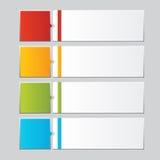 Geschäft infographics Zahlfahnen Schablone oder Websiteplan Vektor Abbildung Stockfoto