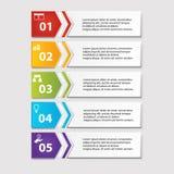 Geschäft infographics Zahlfahnen Schablone oder Websiteplan Vektor Abbildung Stockfotos