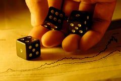 Geschäft ist Glücksspiel Stockbild