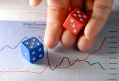 Geschäft ist Glücksspiel lizenzfreie stockfotografie