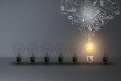 Geschäft kreativ und Ideen-Konzept Lizenzfreie Stockfotos