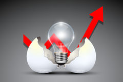 Geschäft kreativ und Ideen-Konzept lizenzfreie abbildung