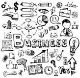 Geschäft kritzelt die gezeichnete Hand Vektor Lizenzfreies Stockbild
