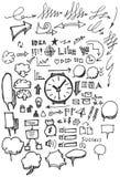 Geschäft kritzelt Skizze handrawn Tinte Stockbild