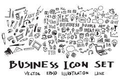Geschäft kritzelt Skizzenvektortinte eps10 Lizenzfreie Stockfotografie