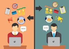 Geschäft am on-line-Geschäft Lizenzfreie Stockbilder