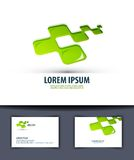 Geschäft Logo, Ikone, emblema, Zeichen, Schablone, Lizenzfreie Stockfotografie