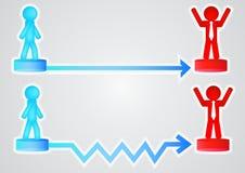 Geschäft mit Pfeilen und Person vektor abbildung