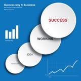 Geschäft oder Finanzelementschablone Lizenzfreie Stockfotografie