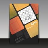 Geschäft oder Unternehmensflieger-Schablone mit Quadrat-Muster Stockbilder