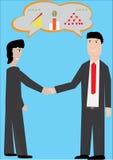 Geschäft rütteln Hände stock abbildung
