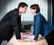 Geschäft-Rivalität 6 stockbild