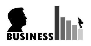 Geschäft shilouette Progressist Stockbild