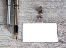 Geschäft, Stift, Ausweis Stockfotografie