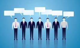 Geschäft Team Communication Linie von Geschäftsmännern Stockfotografie