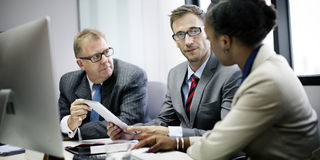 Geschäft Team Corporate Organization Meeting Concept Stockfotografie