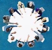 Geschäft Team Discussion Meeting Analysing Concept Lizenzfreie Stockfotografie
