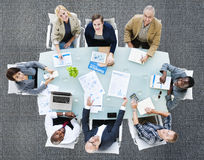 Geschäft Team Discussion Meeting Analysing Concept Stockbild