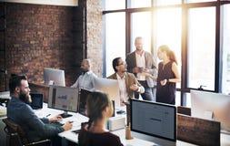Geschäft Team Discussion Meeting Corporate Concept Lizenzfreie Stockbilder