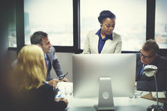 Geschäft Team Meeting Discussion Connection Concept Lizenzfreies Stockbild